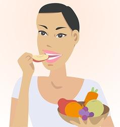 eat fruit vector image vector image