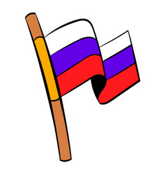 Flag of russia icon cartoon vector