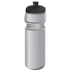 Grey sports water bottle vector image vector image