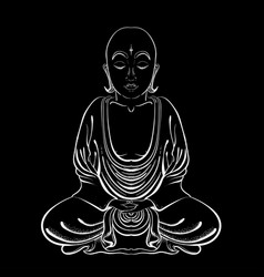 hand drawn buddha on a vector image