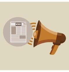 megaphone concept news design vector image