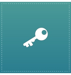 Old key silhouette isolated vector