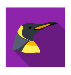 penguin icon in flat style isolated on white vector image vector image