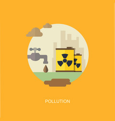 pollution flat banner vector image