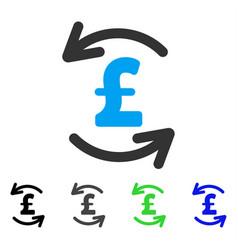 Refresh pound balance flat icon vector
