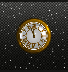 retro clock on a starry sky background vector image vector image