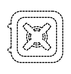 safe box icon treasure business financial concept vector image