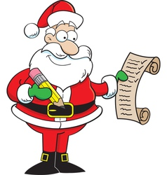 Santa claus holding a list vector