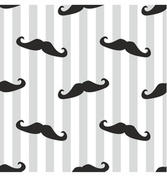 Seamless mustache blue background or pattern vector image