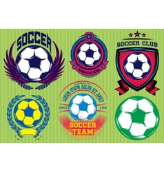 Set of Soccer Football Badge Logo Design Templates vector image vector image