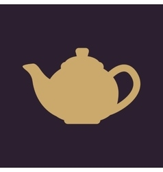 The teapot icon tea symbol flat vector