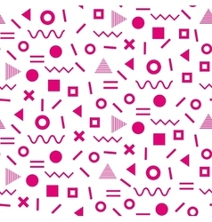 Trendy memphis cards Abstract seamless pattern vector image vector image
