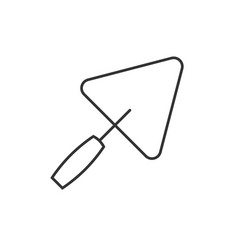 trowel outline icon vector image vector image