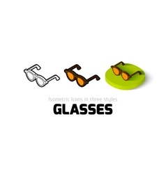 Glasses icon in different style vector image
