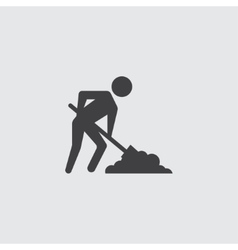 Digging man icon vector