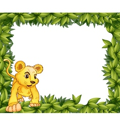 A frame with an animal vector