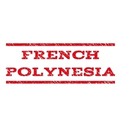 French polynesia watermark stamp vector