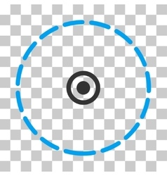 Round area icon vector
