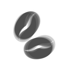 Coffee beans sign  gray icon shaked at vector