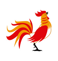 red rooster for chinese celebration usable for vector image