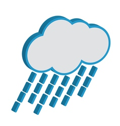 Cloud with raindrops weather forecast icon eps10 vector