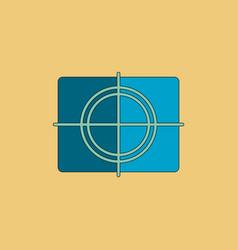 Cinema film frame in flat vector