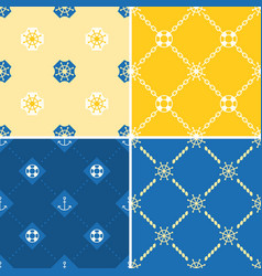 Navy and nautical seamless pattern theme set 2 vector
