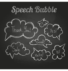 chalk drawings Set of speech bubble Cloud vector image