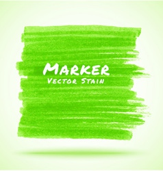 Green marker stain vector