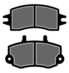 Brake pad black silhouettes vector