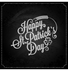 Patrick day vintage chalk background vector