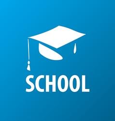 Logo square academic cap vector