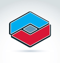 Complex geometric corporate element created from vector