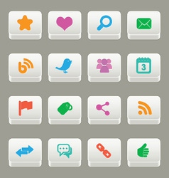 social media buttons vector image