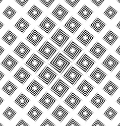 Monochrome seamless cornered polygon pattern vector
