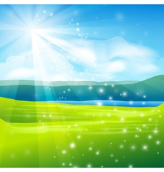 abstract summer landscape background vector image