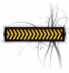 danger pattern vector image