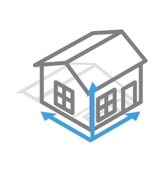 House drawing icon isometric 3d style vector