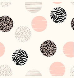 Abstract geometric seamless pattern with animal vector