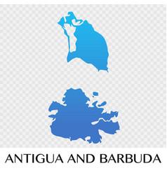 Antigua and barbuda map in north america vector