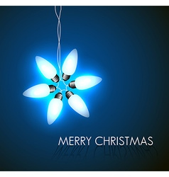 background with christmas star vector image