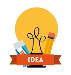 bulb idea vector image