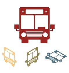 Bus icons isometric set vector image