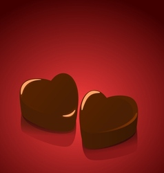 Candy hearts valentines vector image