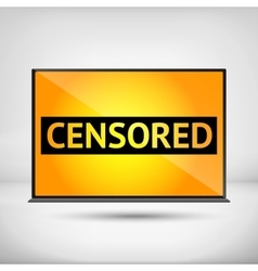 Censored sign vector image