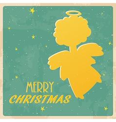 Christmas angel card vector