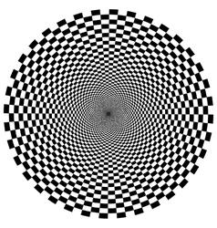 Circular tunnel vector image vector image