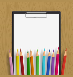 empty clipboard with and color vector image vector image