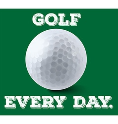 Golf ball on green poster vector