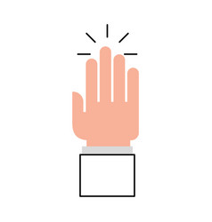 Hand human open icon vector